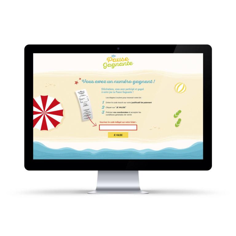 Site internet La Pause Gagnante