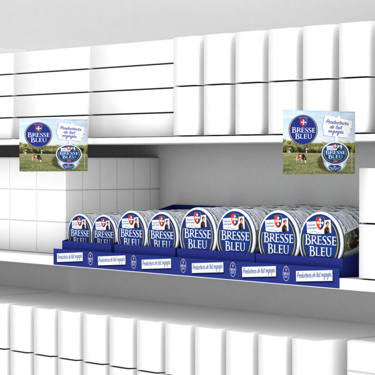 Bresse Bleu linéaire magasin