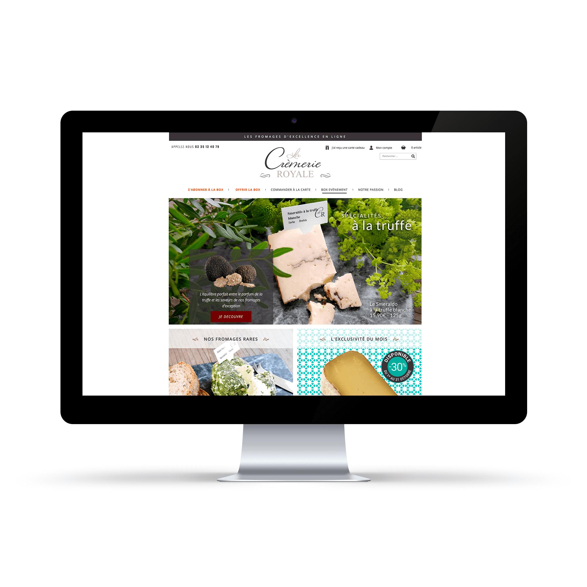 Site internet La Crèmerie Royale - Homepage