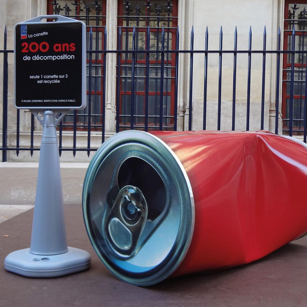 Street Marketing PLV Rouen cannette