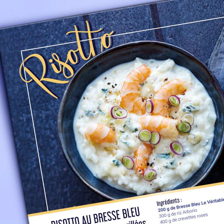 Focus visuels fiche recette communiqué presse Bresse Bleu