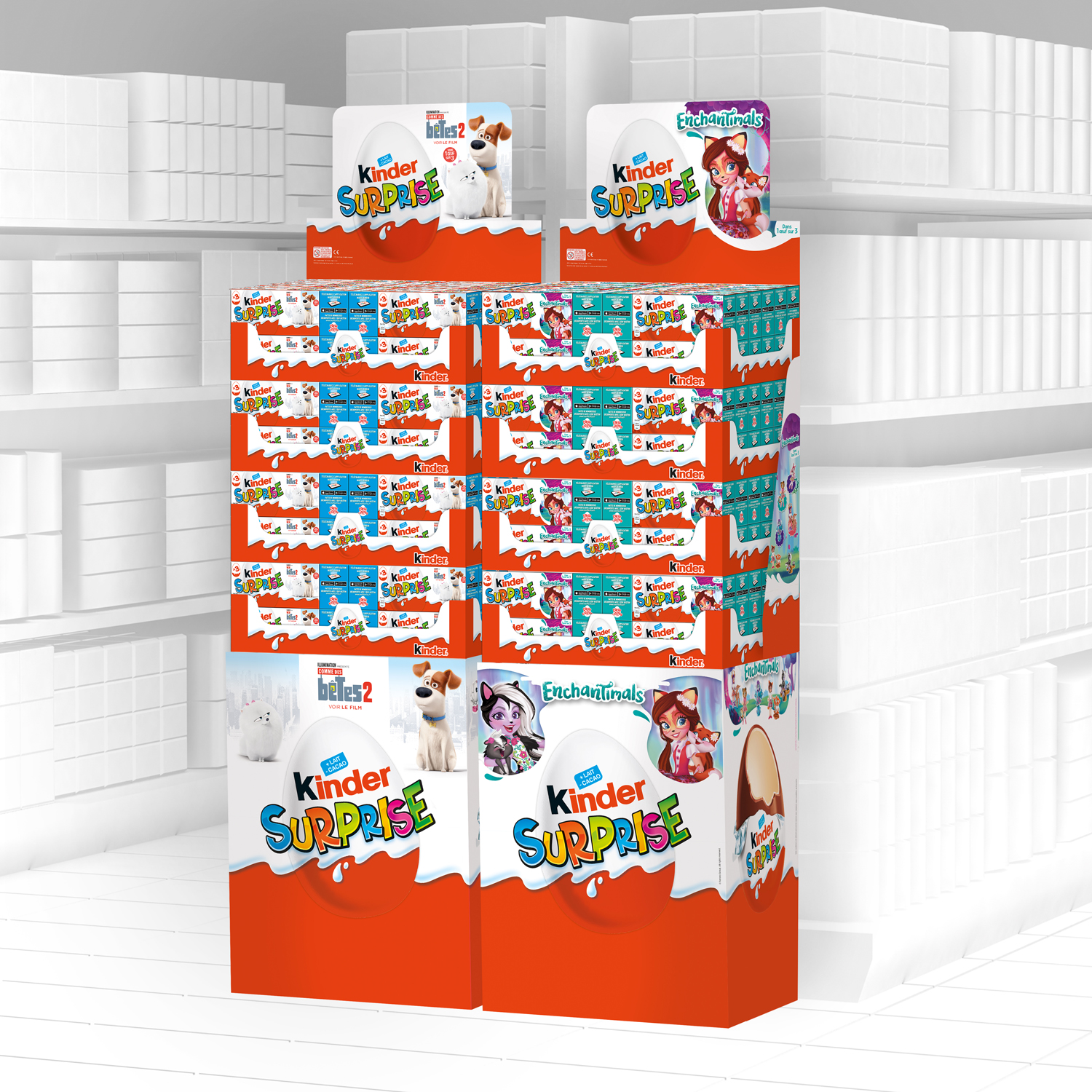 Displays Kinder surprises licence