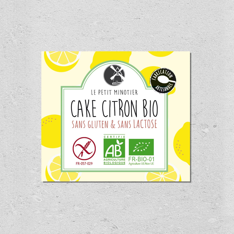 design packaging cake citron bio le petit minotier