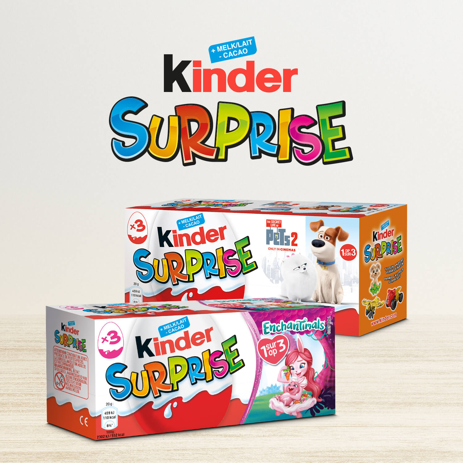 Packaging Kinder surprise T3 Licence Belgique