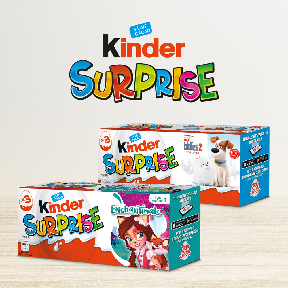 Packaging Kinder surprise T3 Licence France